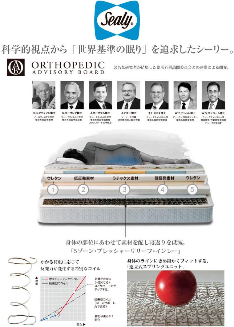 世界基準の眠りシーリーベッド