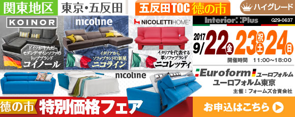ドイツ&イタリア製高級革張りソファ 徳の市 特別価格フェア|五反田TOC
