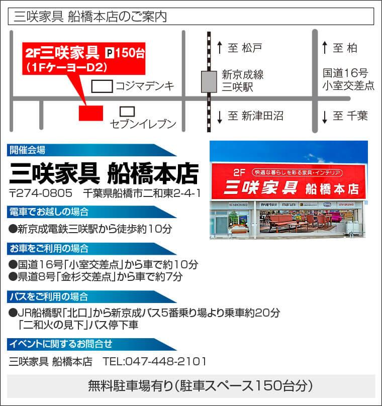 三咲家具 船橋本店へのアクセス