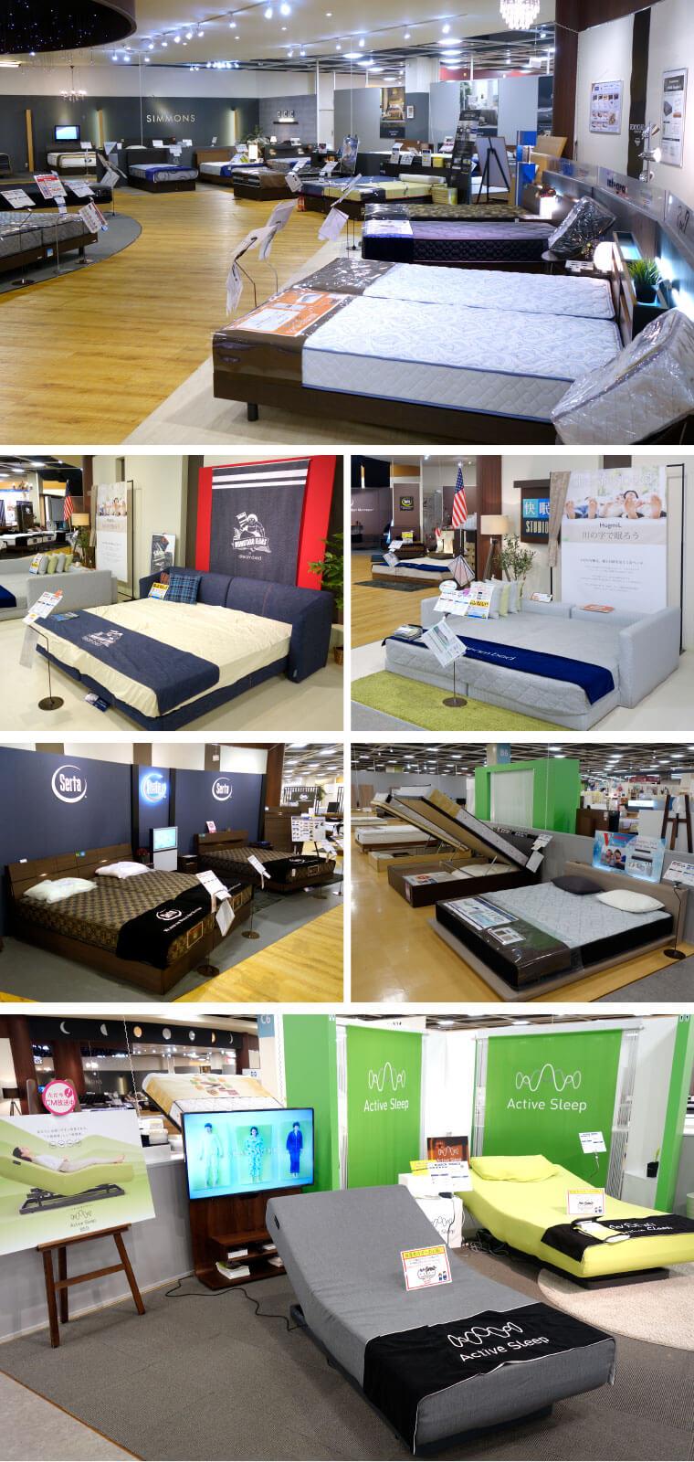 山新のベッド売場