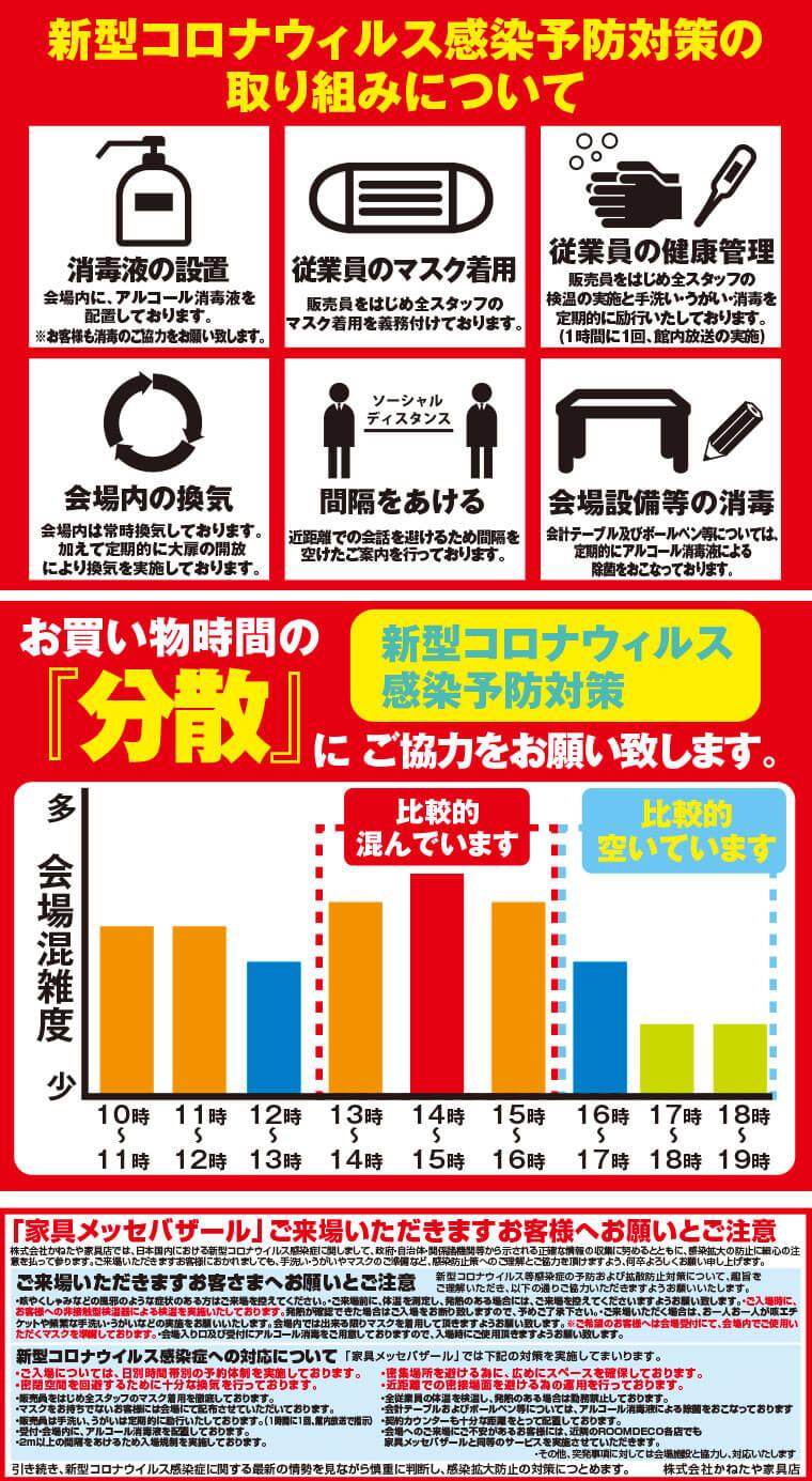 家具メッセのコロナウイルス対策