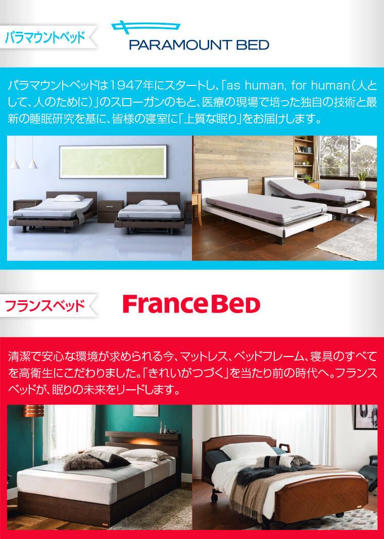 パラマウントベッド、フランスベッド